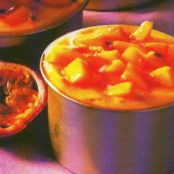 Recette Mousse glacée passion-mangue