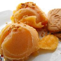 Recette du Sorbet pêche-abricot à l'orgeat