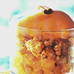 Recette Streussel pommes avec glace au caramel