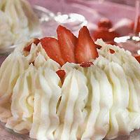 Recette du Vacherin aux fraises et aux pralines roses